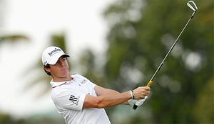 Rory McIlroy in action at the Cadillac Championship