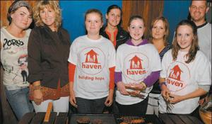 Pictured at the fundraising barbeque in aid of the Haiti Haven Building Project in McCarthys Bar were Olga Firek, Anne O'Leary, Sophie O'Leary, Justyna Niemree, Leanne Smith, Breeda O'Leary, Maura Buckley and Jerry Pat O'Leary.