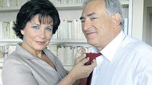 Dominique Strauss-Kahn and wife Anne Sinclair pictured in their apartment in Paris