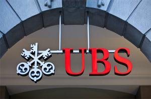 UBS tumbled 5pc after Switzerland's biggest bank reported a quarter-on-quarter drop in revenue from much of its trading operations. Photo: Bloomberg News