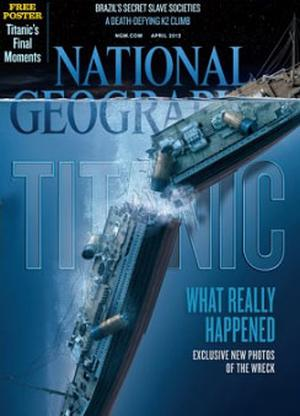 The images were created using sonar and released in National Geographic magazine's April 2012 edition.