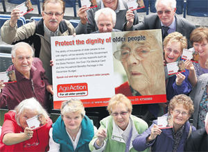 It expected to get back cards from 20,000 wealthy pensioners who had received them originally without any means test.