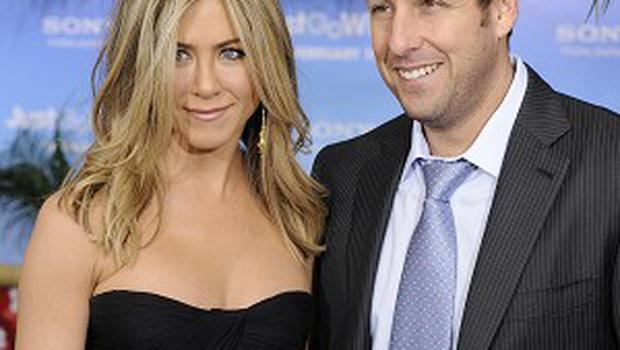 Adam Sandler and Jennifer Aniston's film Just Go With It has just about topped the US box office
