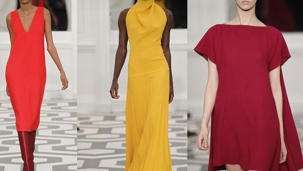 Dresses from the new Victoria Beckham collection. Photos: Getty Images