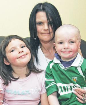 Millie and Gavin Murray with their mother Sheila
