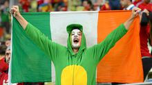 Ireland supporter Bernard O'Flaherty, from Tralee, Co. Kerry, at the game. Photo: Sportsfile