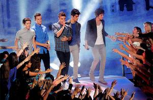 One Direction perform 'One Thing' during the 2012 MTV Video Music Awards in Los Angeles