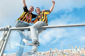 Kilkenny supporters celebrate in the sunshine after the All-Ireland hurling final