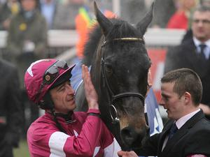 Jockey Davy Russell with the impressive Sir Des Champs