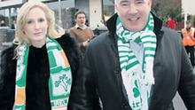Sean Dunne and his wife Gayle arriving at Croke Park for a rugby international against England in February 2009