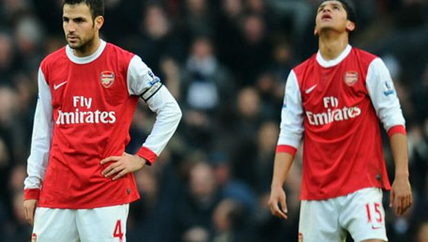 RIFT: Fabregas denies there is a rift with Denilson. Photo: Getty Images