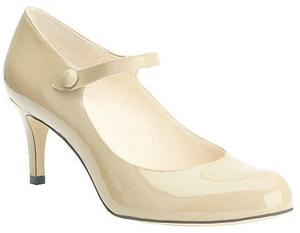 'La Jane' nude patent, €95, Mary Portas from Clarks. Also available in black suede