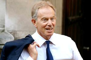 Tony Blair arrives to give evidence at the Leveson Inquiry. Photo: PA