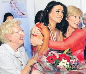 Competition winner Carla Jackson celebrates with her grandmother Terry Burke and her mother Susan Jackson