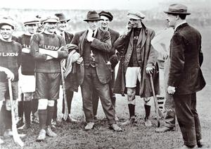 The picture in Delaney's pub in Kilkenny that shows Michael Collins meeting the Kilkenny team in 1921