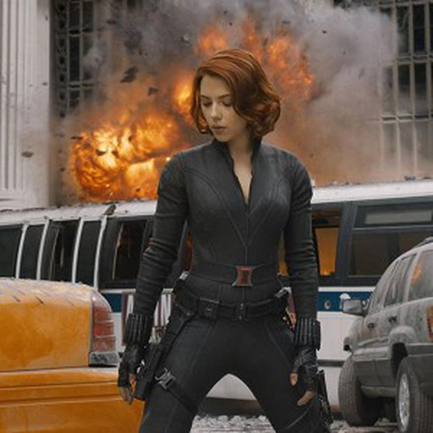 Scarlett Johansson stars as superhero Black Widow in Avengers Assemble