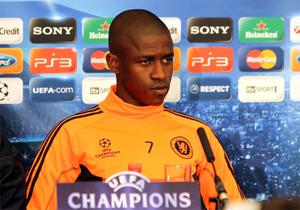 Chelsea's Ramires talks to the press at Stamford Bridge. Photo: PA