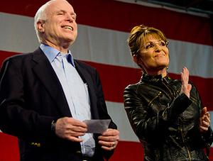 Sarah Palin shot to prominence as the surprise choice running-mate of US presidential hopeful John McCain. Photo: Getty Images