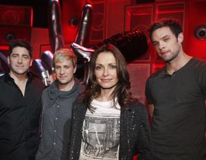 Coaches Brian Kennedy,Kian Egan ,Sharon Corr and Bressie  on the set of The Voice of Ireland in The Helix...