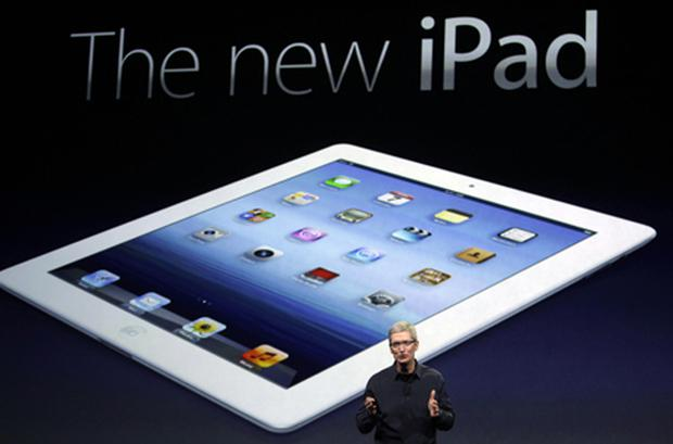 Apple CEO Tim Cook introduces the new iPad. Photo: PA