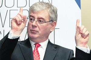 Eamon Gilmore on the campaign trail yesterday