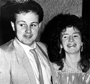 John Gallagher with then girlfriend Anne Gillespie, whom he shot dead along with her mother Annie Gillespie in 1988