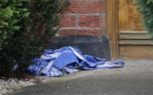 A towel at the scene where a drug dealer and a teenager have been murdered in a gangland-style gun attack. Photo: PA