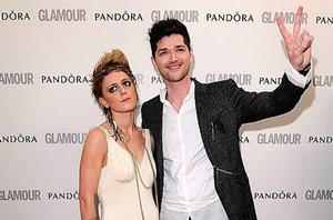 Bo Bruce and Danny O'Donoghue (right) arriving at the 2012 Glamour Women of the Year Awards in Berkeley Square, London. Photo: PA