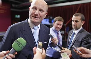 Libertas leader Declan Ganley in the Dublin count centre at Dublin Castle for the Fiscal Stability Referendum as the votes are counted across the country. Photo: PA