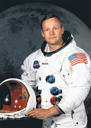 US astronaut Neil Armstrong,the first man to walk on the moon.