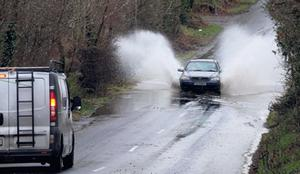 Flooding on the Wellingtonbridge to Wexford town road.