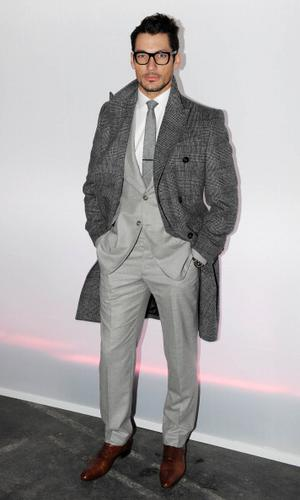 LONDON, UNITED KINGDOM - JANUARY 09: David Gandy attends the J.W. Anderson show at the London Collections: MEN AW13 at The Old Sorting Office on January 9, 2013 in London, England. (Photo by Stuart Wilson/Getty Images)