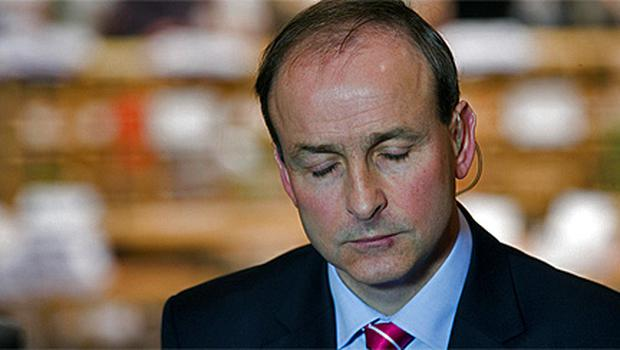 Fianna Fail leader Micheal Martin at the count in Cork City Hall