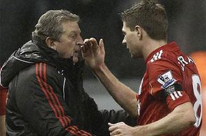 Right man for England: Steven Gerrard backs FA's appointment but says Roy Hodgson took over at Liverpool at wrong time. Photo: Reuters