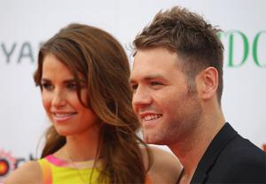 Brian McFadden with Vogue Williams. Photo: Getty Images