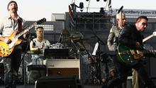 The Edge, Larry Mullen Jr, Adam Clayton and Bono from U2 perform at Croke Park on July 24, 2009 in Dublin. Photo: Getty Images