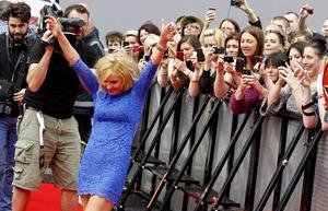 Geri Halliwell arrives on the red carpet for the first round of X Factor auditions