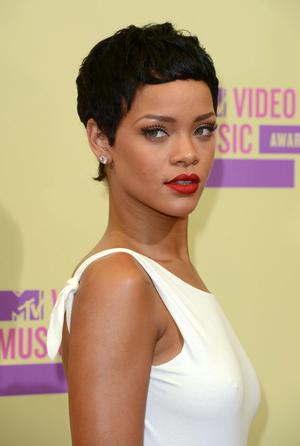 Rihanna arriving at the MTV Video Music Awards at the Staples Centre, Los Angeles. PRESS ASSOCIATION Photo. Picture date: Thursday September 6, 2012. Photo credit should read: PA Wire/PA Wire