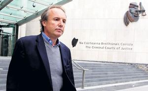 Breifne O'Brien leaving the Criminal Courts of Justice