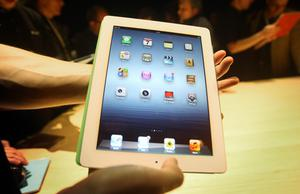 A new Apple iPad is unveiled at a launch party at Kings Place, London. Photo: PA