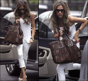 Prada bags are loved by celebs including Victoria Beckham.