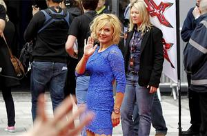Geri Halliwell arrives on the red carpet for the first round of X Factor auditions at the Echo Arena, Liverpool. Photo: PA