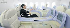 Try upgrading into a more comfortable cabin , especially if you have a night flight