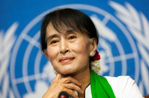 Aung San Suu  Kyi, Burma's pro-democracy leader and Nobel Peace Prize laureate.