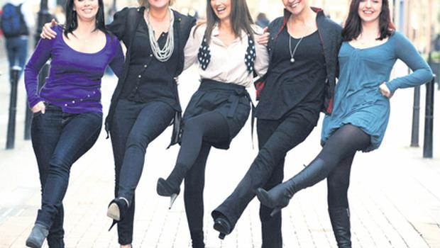 From left: Jacinta White, Sorcha Furlong, Lorraine Keane, Hilda Fay and Sharon Sexton, who star in 'Girls Night: The Musical'