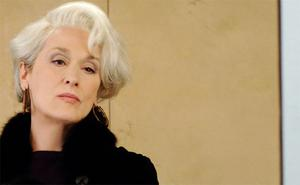 Meryl Streep as Amanda Priestly in The Devil Wears Prada.