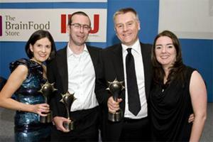 The Mindshare team with their haul of awards