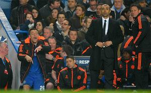 Spot the manager: Chelsea captain John Terry appears to be directing operations from the bench