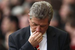 A dejected Roy Hodgson after yesterday's defeat at Blackpool. Photo: Getty Images