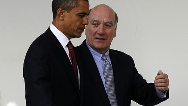 Barack Obama with Bill Daley who has resigned as Chief of Staff after less than a year in the job.  Photo: Getty Images